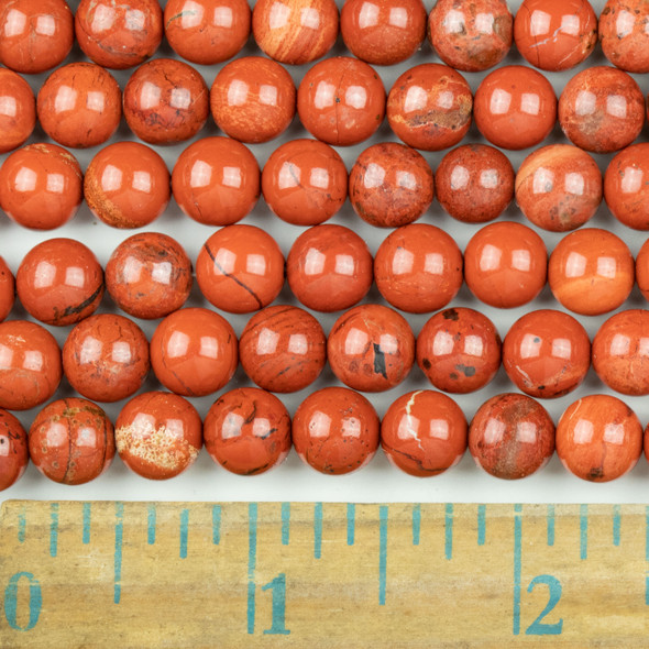 Red Jasper 8mm Round Beads - approx. 8 inch strand, Set A