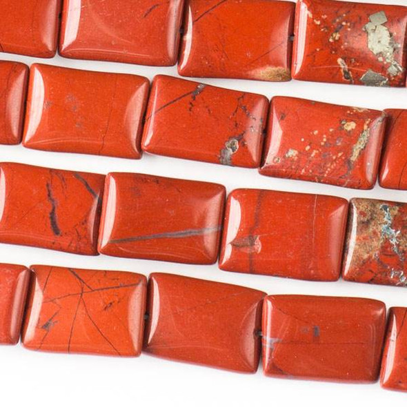 Red Jasper 10x14mm Rectangle Beads - approx. 8 inch strand, Set A