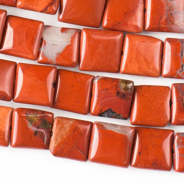 Red Jasper 10mm Square Beads - approx. 8 inch strand, Set A