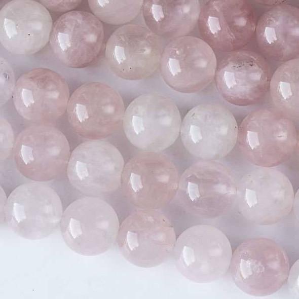 Rose Quartz 12mm Rounds - 16 inch strand