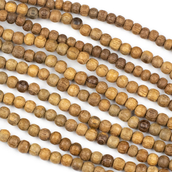 Rose Wood approximately 4mm Round Beads - 15 inch strand