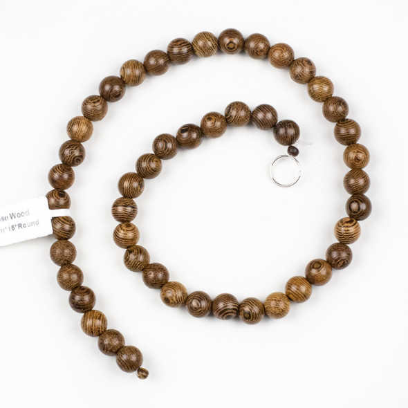 Rose Wood 8mm Round Beads - 15 inch strand