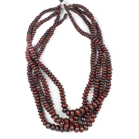 Red Tiger Iron Jasper 4-10mm Graduated Rondelle Beads - 15.5 inch strand