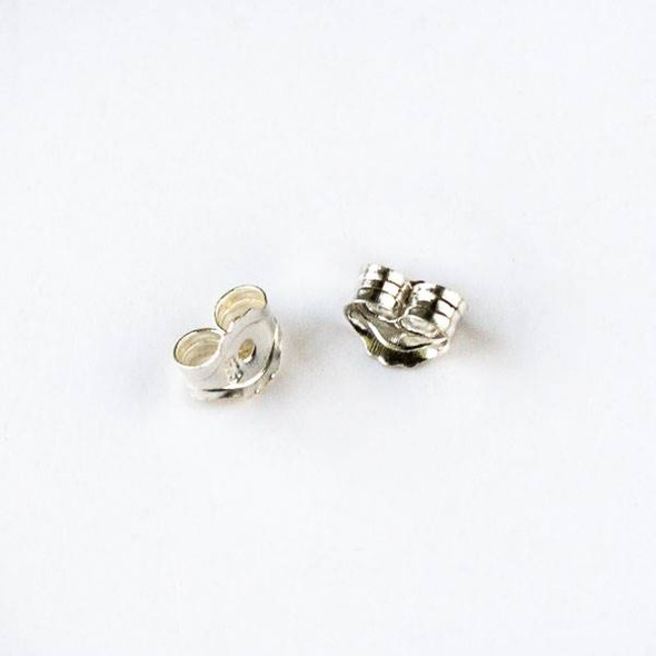 Sterling Silver Ball Post Earring Backs - 1 pair/2 pieces per bag