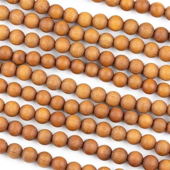 Sandalwood 6mm Round Beads - 16 inch strand