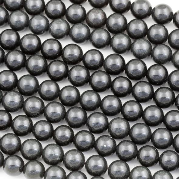 Shungite 10mm Round Beads - 16 inch strand