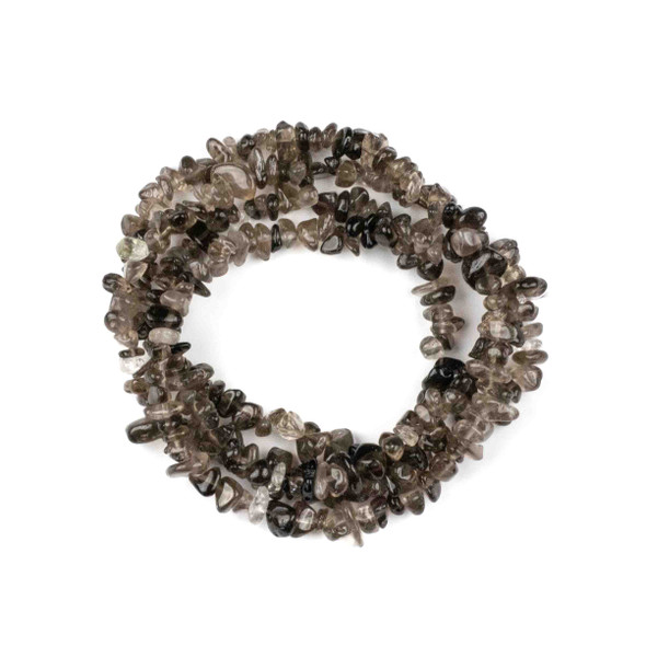 """Smoky Quartz 5-8mm Chip Beads - 36"""" circular strand"""