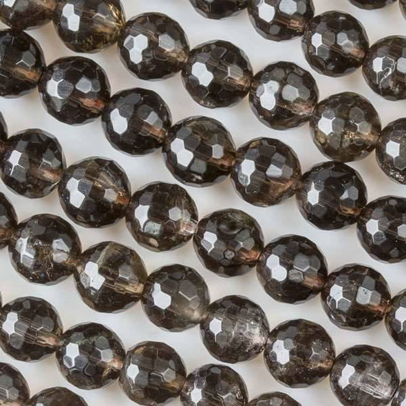 Smoky Quartz 8mm Faceted Rounds
