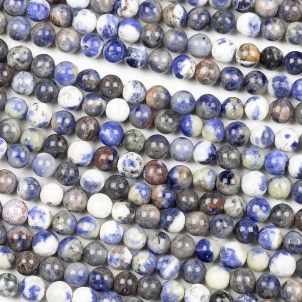 "Sodalite Grade ""B"" 6mm Round Beads - 15.5 inch strand"