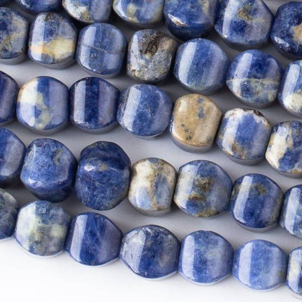 Sodalite 8mm Cushion Beads - approx. 8 inch strand, Set A