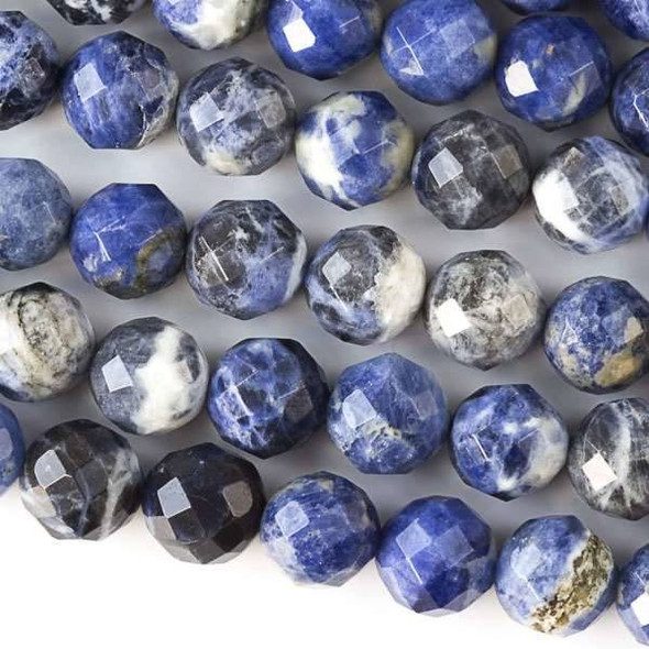 Sodalite Faceted 10mm Round Beads - approx. 8 inch strand, Set B