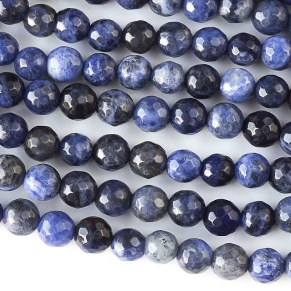 Sodalite Faceted 6mm Round Beads - approx. 8 inch strand, Set B