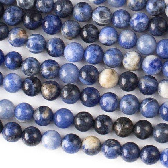 Sodalite 6mm Round Beads - approx. 8 inch strand, Set A
