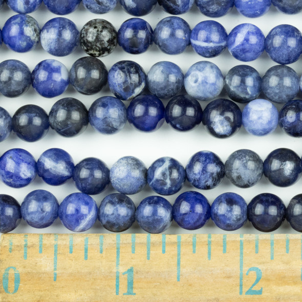 Sodalite 8mm Round Beads - approx. 8 inch strand, Set A