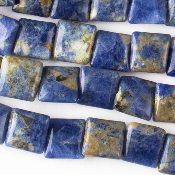 Sodalite 10mm Square Beads - approx. 8 inch strand, Set A