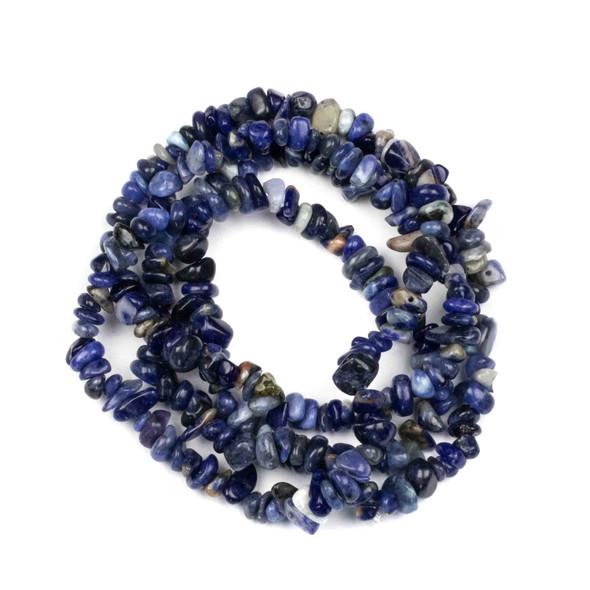 "Sodalite 5-8mm Chip Beads - 34"" circular strand"