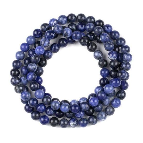 Sodalite 8mm Mala Round Beads - 36 inch strand