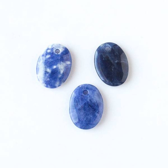 Sodalite 15x20mm Small Oval Pendant