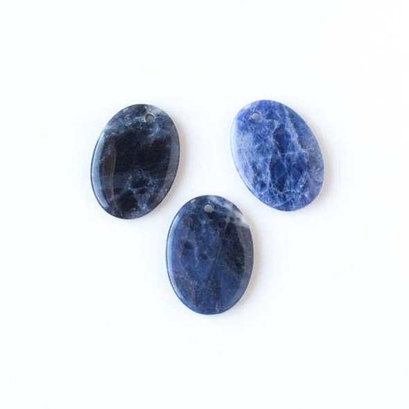 Sodalite 22x30mm Medium Oval Pendant