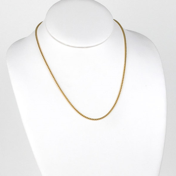 Gold Stainless Steel 2mm Cable Chain Necklace - 18 inch, SS03g-18