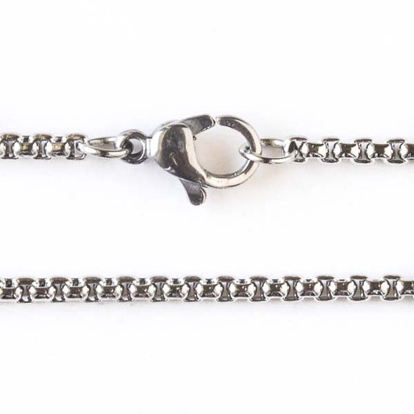 Silver Stainless Steel 2mm Cable Chain Necklace - 16 inch, SS03s-16