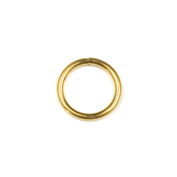 Gold Plated Stainless Steel 16 gauge 10mm Soldered Jump Rings - 100 per bag