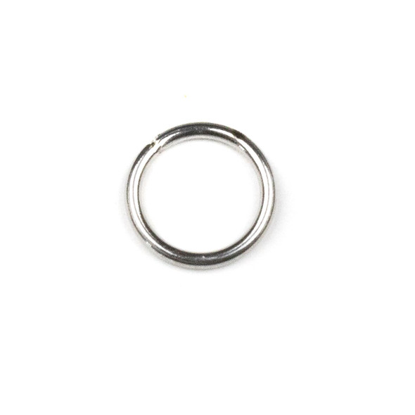 Natural Silver Stainless Steel 16 gauge 10mm Soldered Jump Rings - 100 per bag