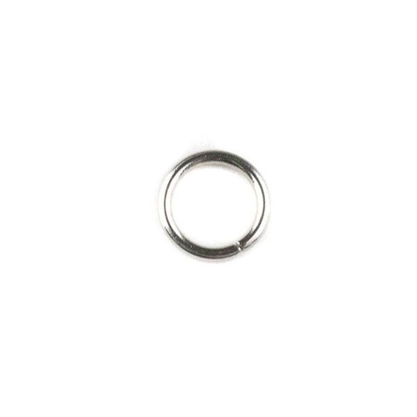 Natural Silver Stainless Steel 20 gauge 6mm Soldered Jump Rings - 100 per bag
