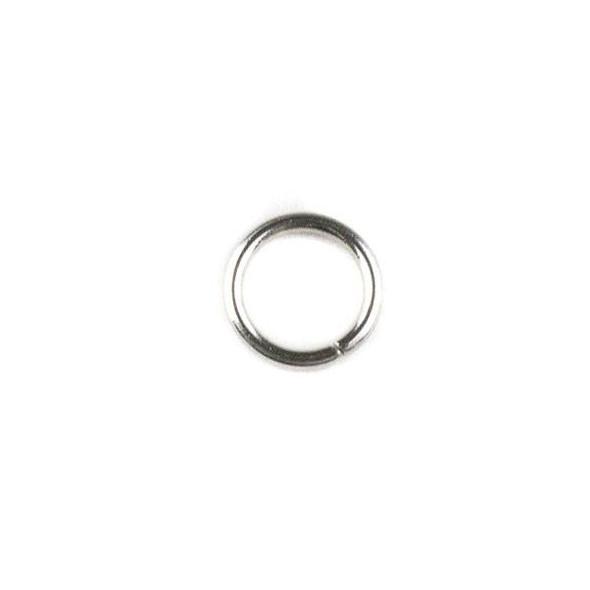 Natural Silver Stainless Steel 20 gauge 6mm Soldered Jump Rings - 100 per bag