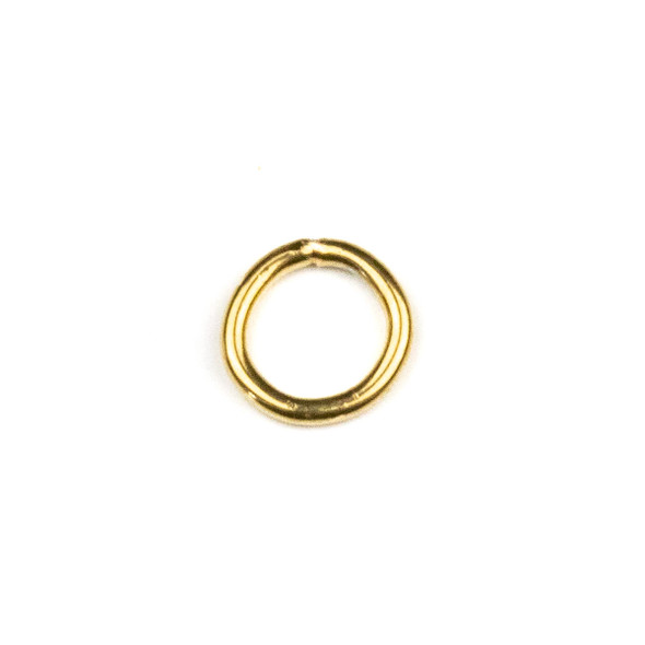 Gold Plated Stainless Steel  18 gauge 8mm Soldered Jump Rings - 100 per bag