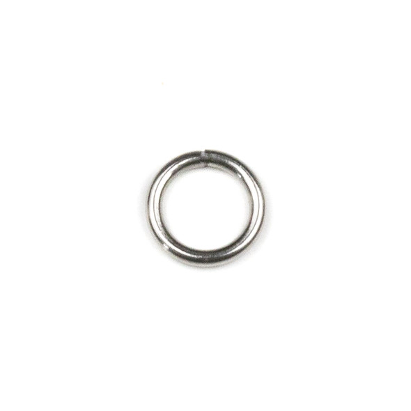 Natural Silver Stainless Steel 18 gauge 8mm Soldered Jump Rings - 100 per bag