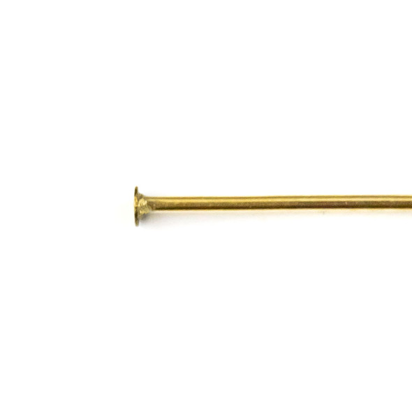 Gold Plated Stainless Steel 1 inch, 22 gauge Headpins - 100 per bag