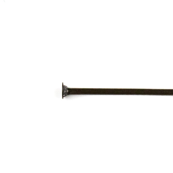 Black Plated Stainless Steel 2 inch, 22 gauge Headpins - 100 per bag