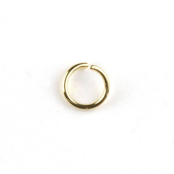 Gold Plated Stainless Steel 0.8x6mm Open Jump Rings - 100 per bag