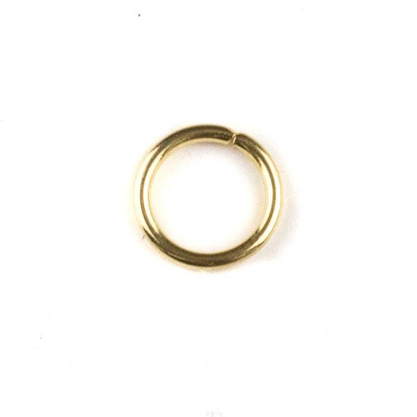 Gold Plated Stainless Steel 1x8mm Open Jump Rings - 100 per bag