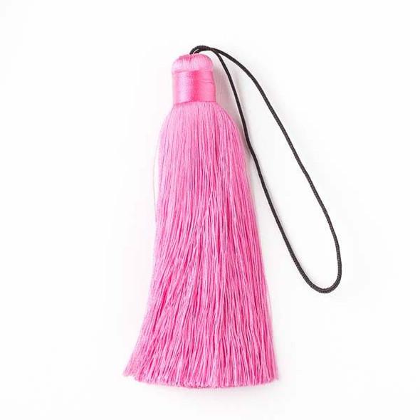 """Bubblegum Pink 4"""" Silk Tassel - 1 per bag"""