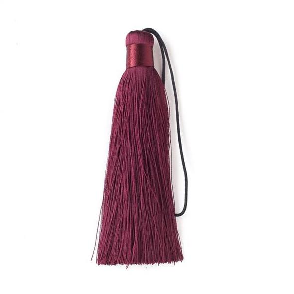 "Dark Burgundy 4"" Silk Tassel - 1 per bag"