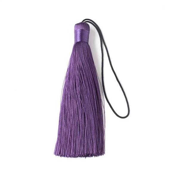 """Dark Plum Purple 4"""" Silk Tassel - 1 per bag"""
