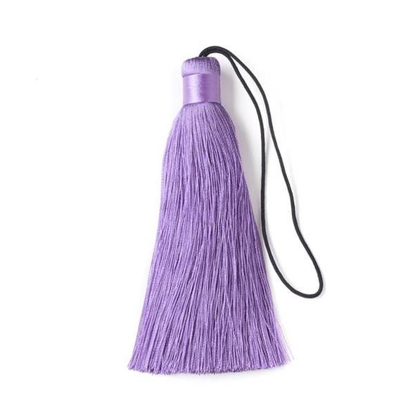 "Iced Lavender Purple 4"" Silk Tassel - 1 per bag"
