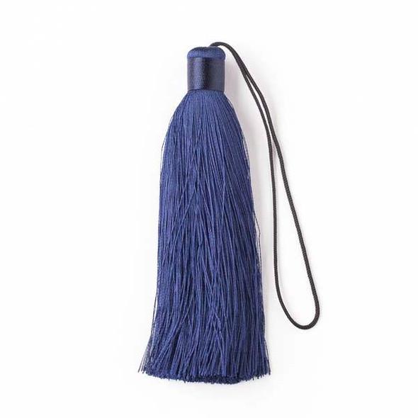 """Navy Blue 4"""" Silk Tassel - 1 per bag"""