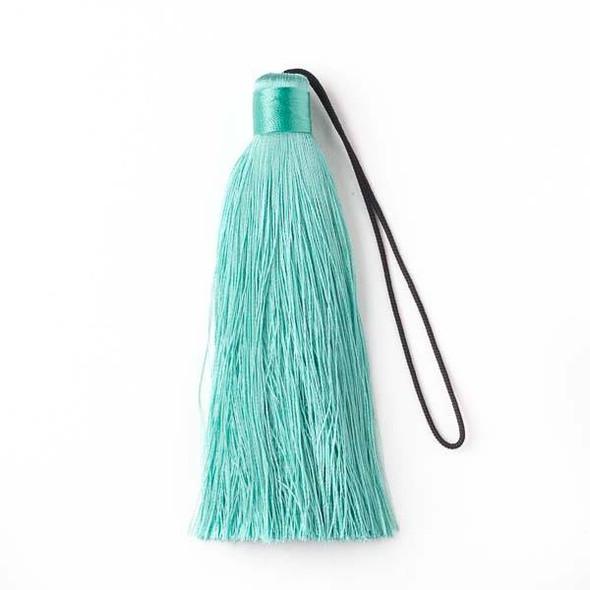"""Sea Foam Green 4"""" Silk Tassel - 1 per bag"""
