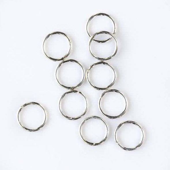Sterling Silver 6mm Closed Jump Rings - 100 per bag