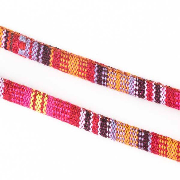 Multicolor Tribal Cord - 6mm Round, 3 yards #SY02