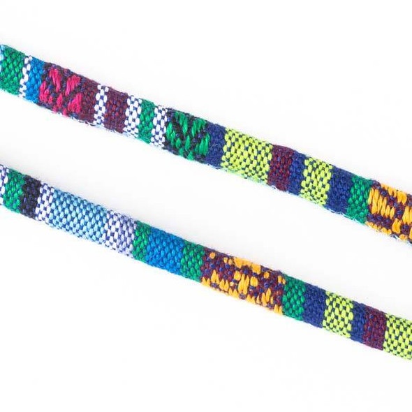Multicolor Tribal Cord - 6mm Round, 3 yards #SY04