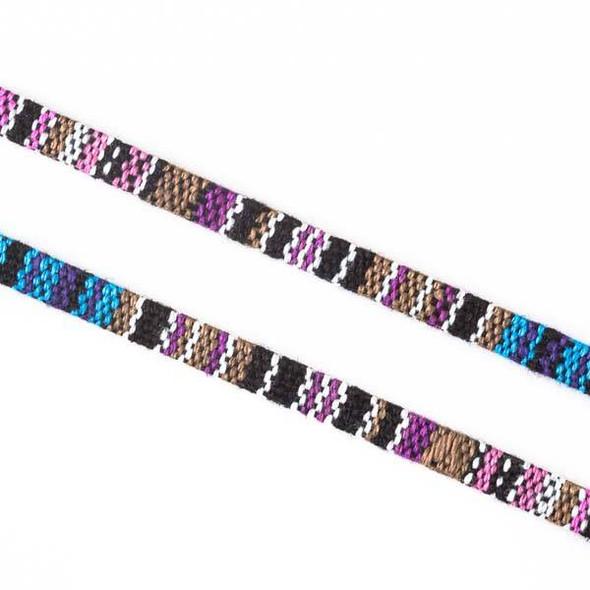 Multicolor Tribal Cord - 5mm Flat, 3 yards #SY05