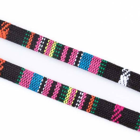 Multicolor Tribal Cord - 7mm Flat, 3 yards #SY12