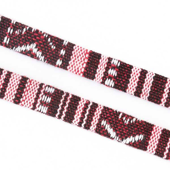 Multicolor Tribal Cord - 10mm Flat, 3 yards #SY17