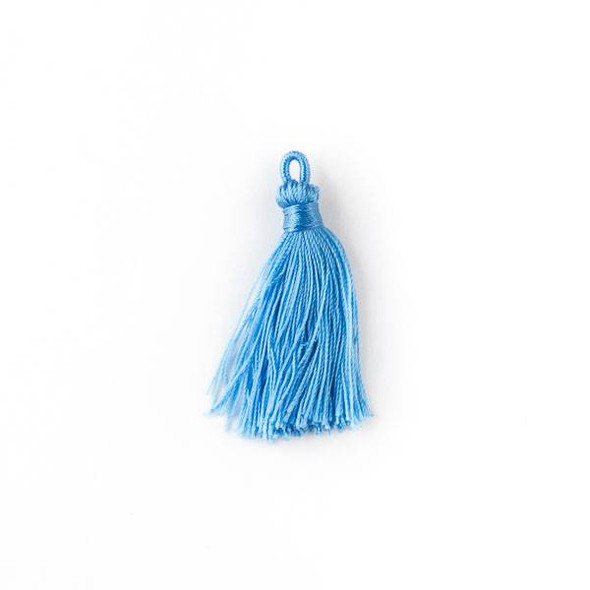 "Cerulean Blue 1.5"" Nylon Tassels - 2 per bag"