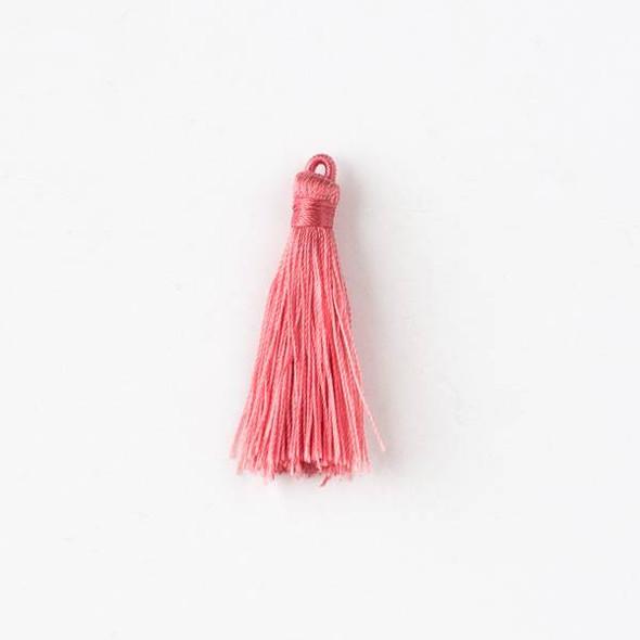 "Coral Pink 1.5"" Nylon Tassels - 2 per bag"