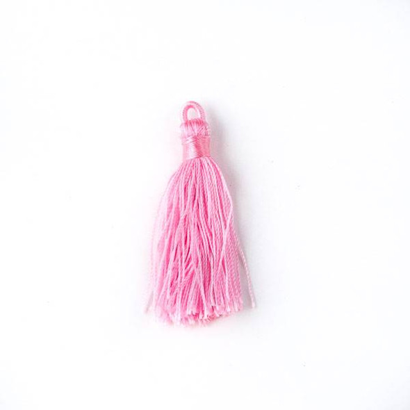 "Cotton Candy Pink 1.5"" Nylon Tassels - 2 per bag"